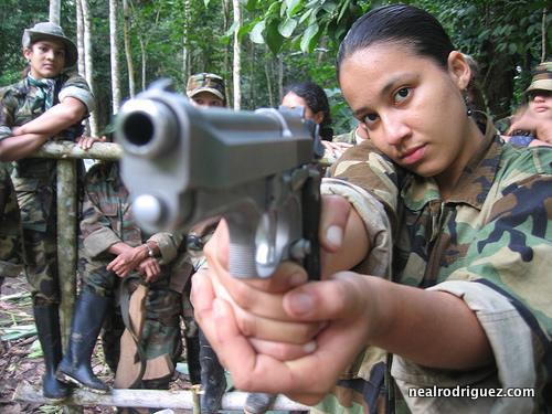 FARC Colombian Female Guerilla